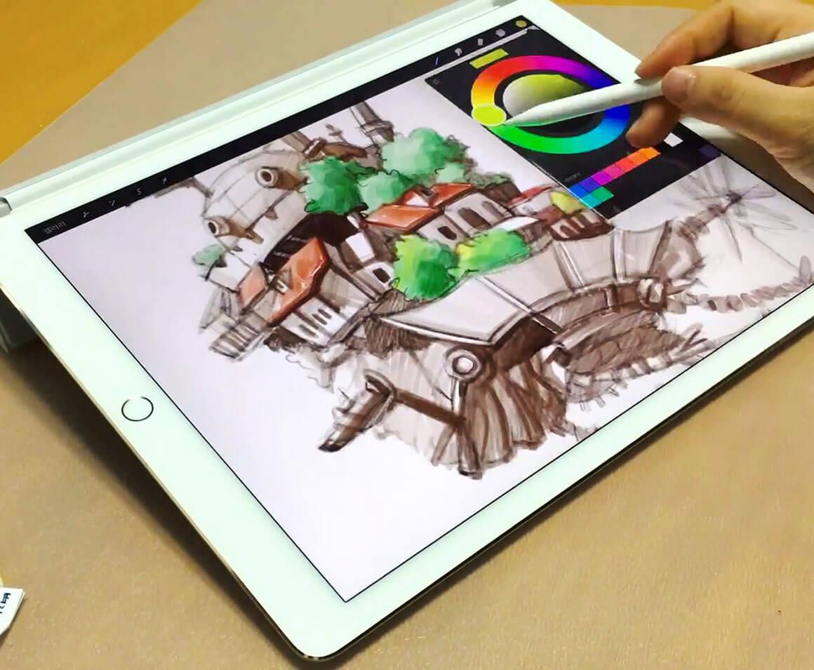 Иллюстрация на графическом планшете (взято с britishdesign.ru)