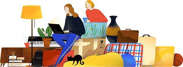 Удаленная работа на чемоданах (взято с studiyatreugolnik.ru)