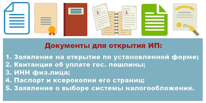 Какие документы нужны чтобы оформить ИП фрилансеру