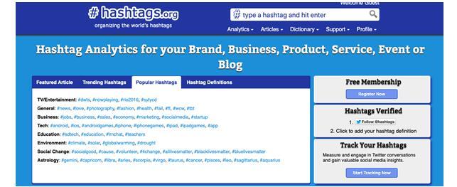 Сервисы для поиска хештегов в Инстаграм - hashtags.org
