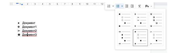 Списки в гугл докс, как делать пошагово