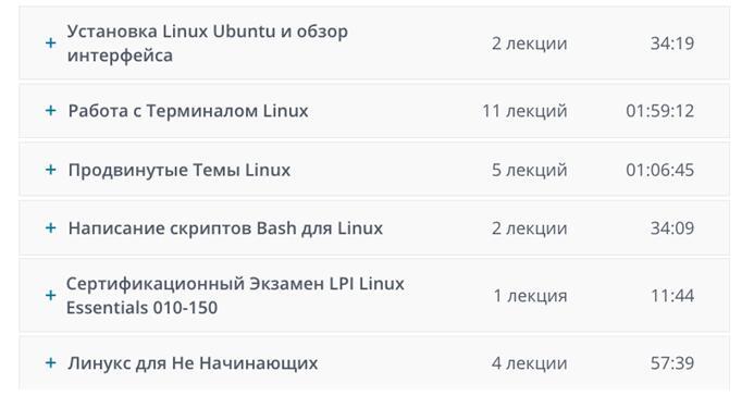 Программа курса «Linux с нуля до Сертификата» от Undemy