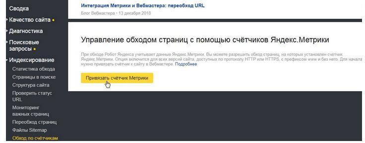 Индексация при помощи Yandex Metrika