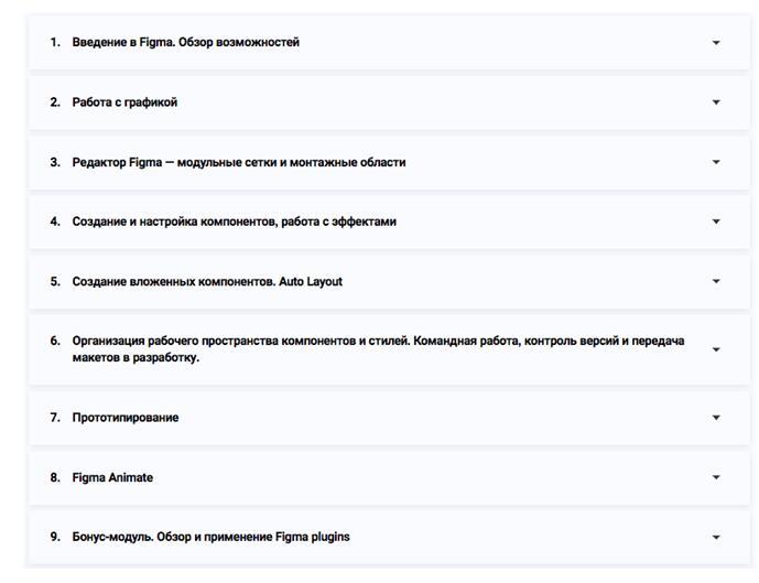 Программа курса «Figma 2.0» от Skillbox