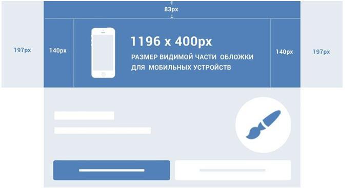 Обложка группы - размеры для мобильной версии