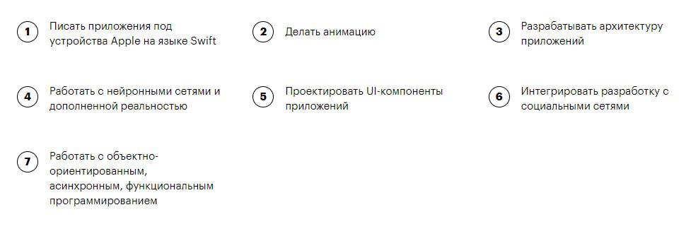 После прохождения курса «iOS-разработчик» от Skillbox