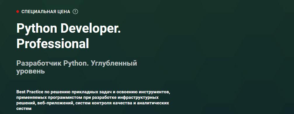 Записаться на курс Python Developer. Professional