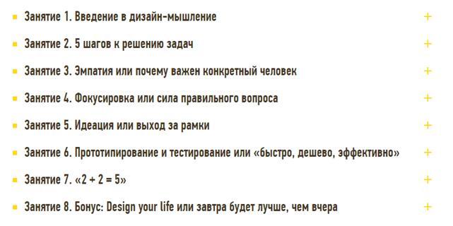 Программа курса «Дизайн-мышление» от LABA