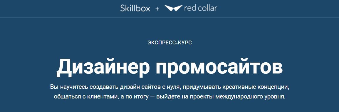 Записаться на курс «Дизайнер промосайтов» от Skillbox
