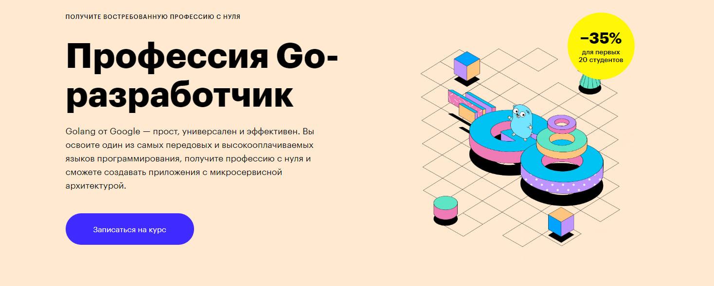 Записаться на курс Профессия «Go-разработчик» от Skillbox