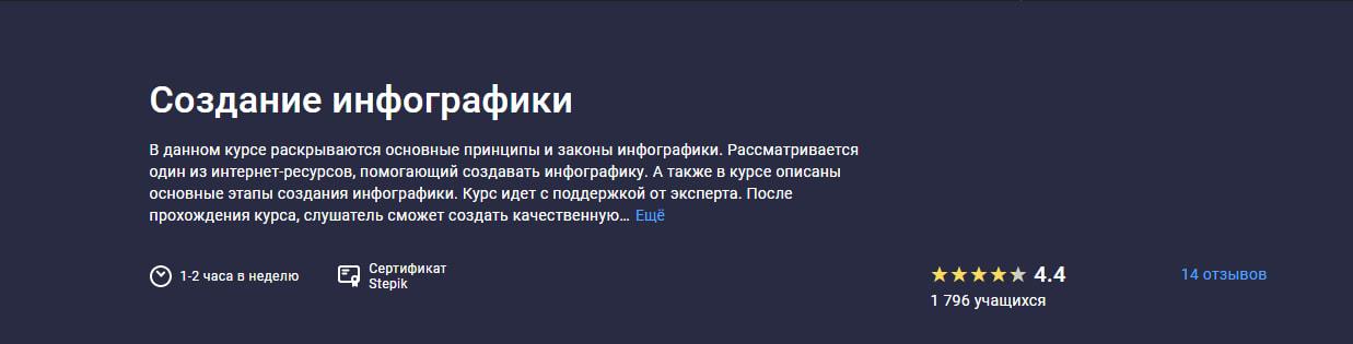 Записаться на курс по созданию инфографики от Stepik.org