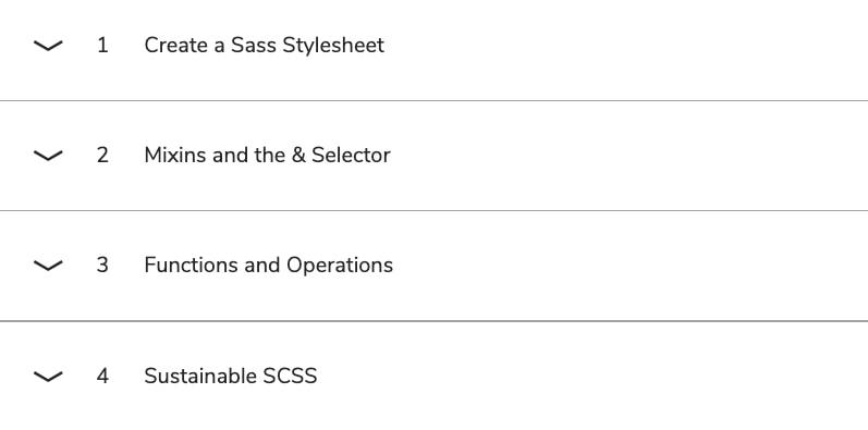 Программа курса «Learn Sass от Codecademy»