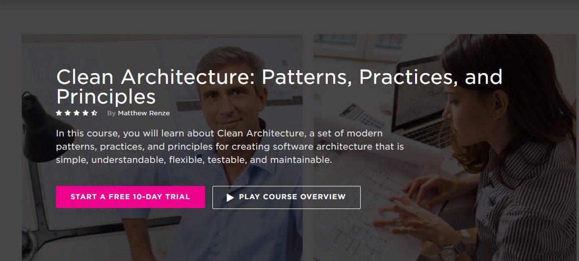Записаться на курс «Clean Architecture: Patterns, Practices, and Principles» от PluralSight