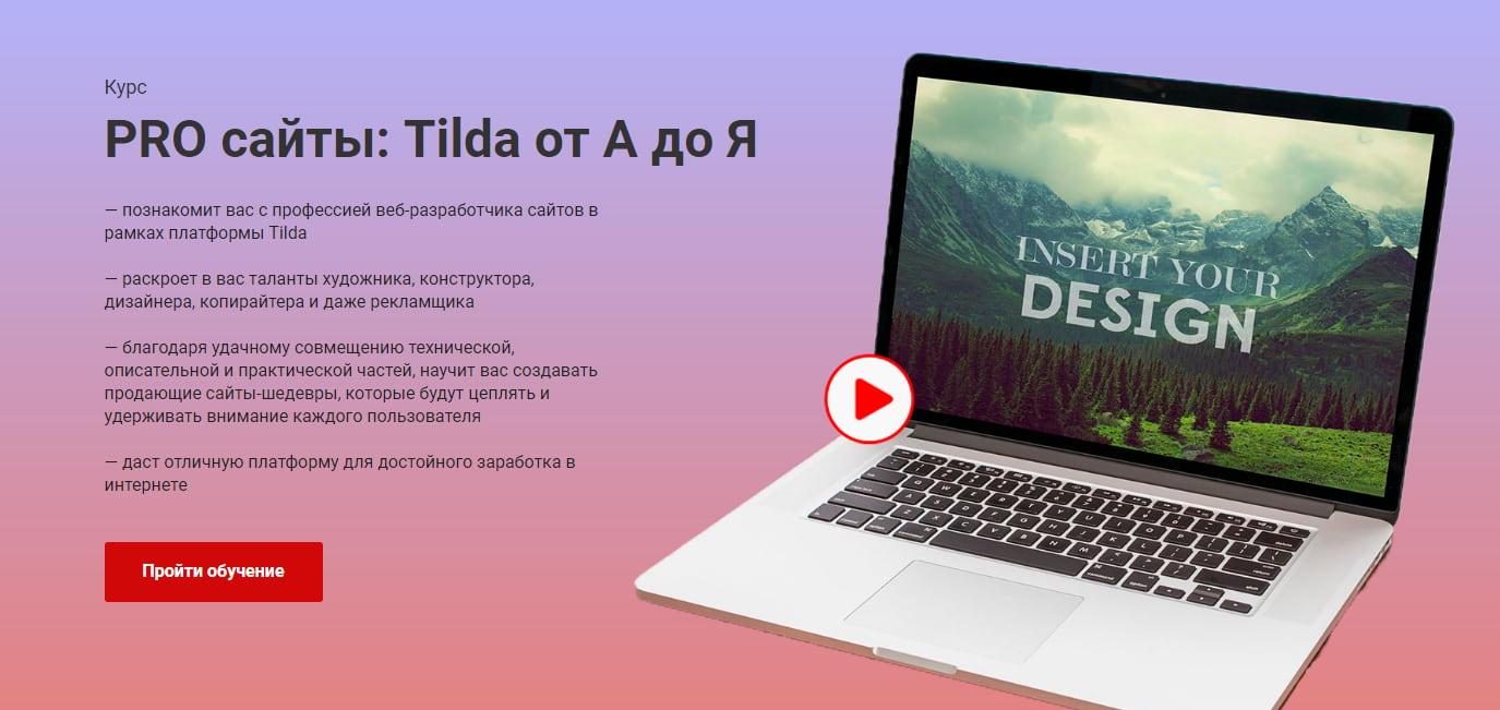Записаться на курс «PRO сайты: Tilda от А до Я» от Альфа Академии