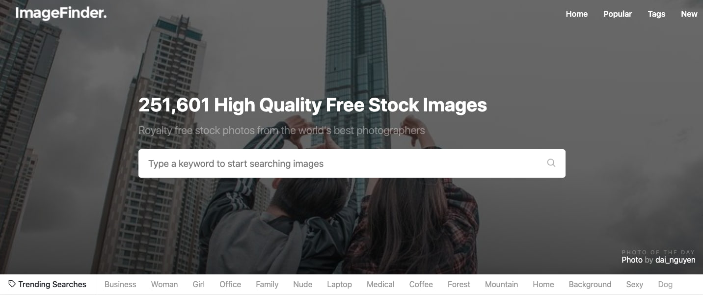 Image Finder — фотобанк