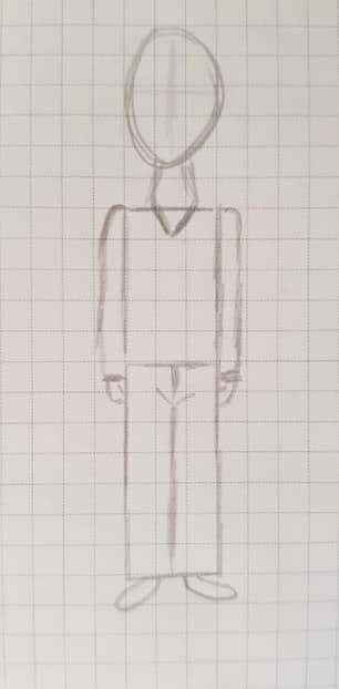 Как нарисовать мальчика шаг 4