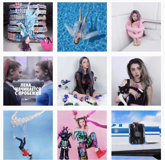 Реклама компания Nike (Инстаграм — Лены Шейдлиной)