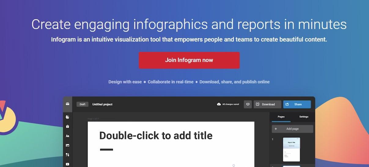 открыть сервис Infogram