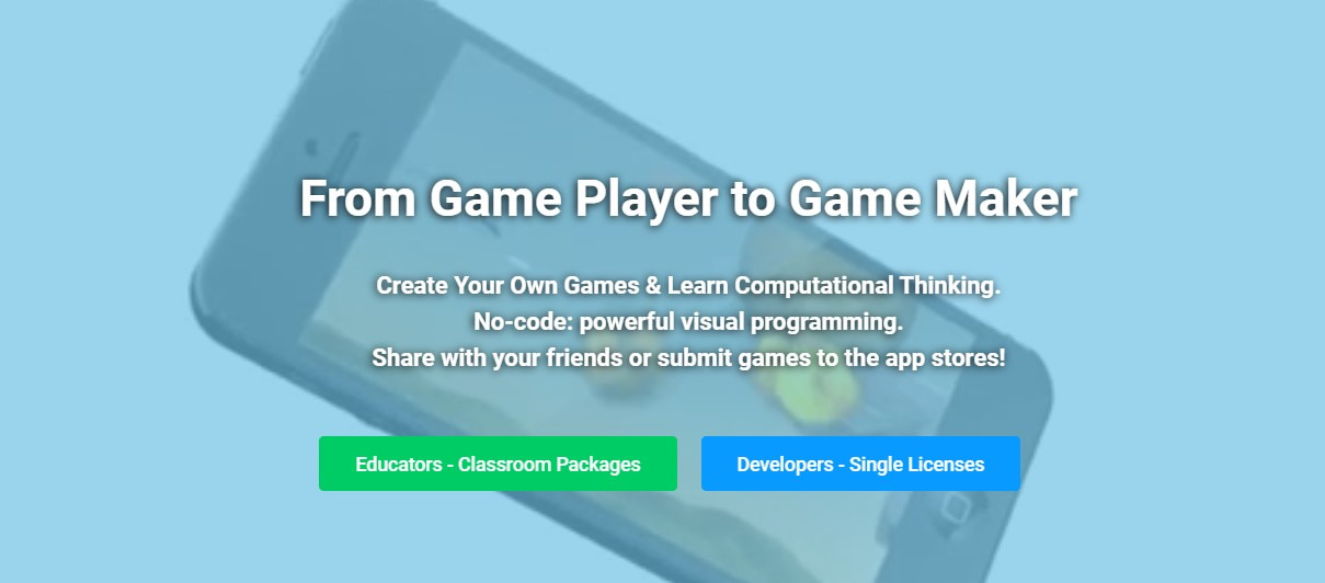 открыть сервис GameSalad