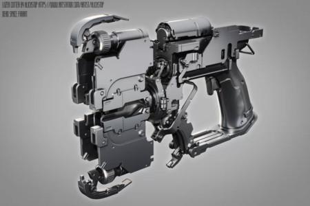 Лазерный резак из игры Dead Space. Моделирование выполнено в программе MODO с использованием шейдера с закруглёнными краями. Источник: портфолио Евгения Пака